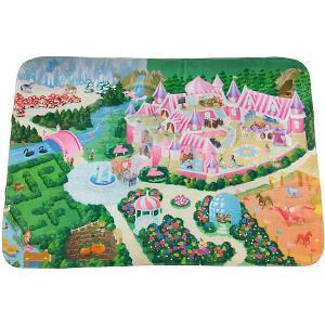 Игровой коврик  Замок Teplokid. Цвет: зеленый/розовый