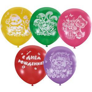 Воздушные шары  С днём рождения. Детский 25 шт., пастель + декоратор Latex Occidental