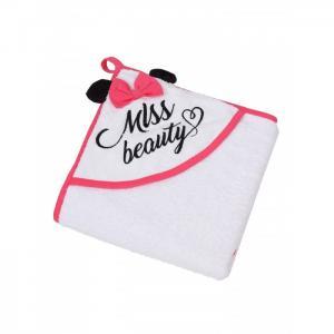 Полотенце с уголком Miss Beauty AmaroBaby