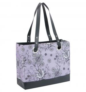 Сумка-термос  для хранения питания Raya 24 Can Tote-Purple Flower питания, цвет: черный/сиреневый Thermos