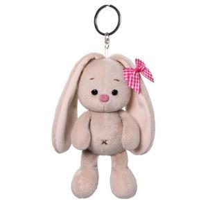 Мягкая игрушка  Зайка Ми с розовым бантиком 14 см цвет: серый/розовый Budi Basa