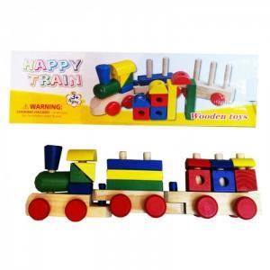 Деревянная игрушка  Поезд QiQu Wooden Toy Factory