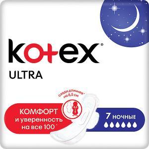 Ультратонкие прокладки  Ultra Net Night, 7 штук Kotex