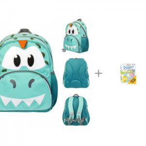 Рюкзак для мальчика Jumbo Compact mini Rex the Dino с настольной игрой Clever Рисовалки в дороге Tiger Enterprise
