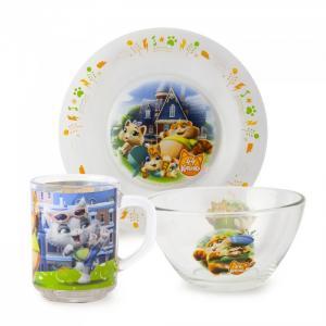 ND Play Набор посуды из стекла 44 Котенка (3 предмета)