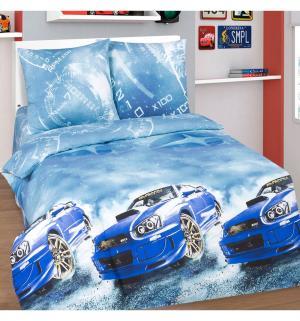 Комплект постельного белья  Форсаж, цвет: синий 4 предмета Артпостель