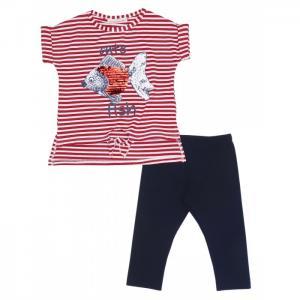 Комплект для девочки туника, бриджи 7647 Baby Rose