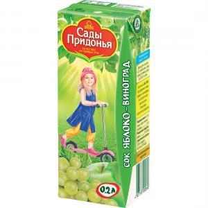 Сок  яблоко-виноград, 200 мл Сады Придонья