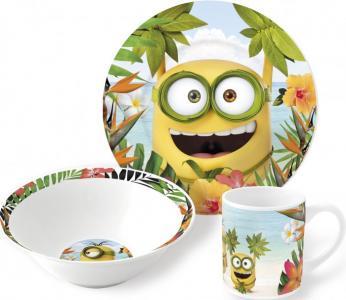 Набор посуды керамической Миньоны Рай (3 предмета) Stor
