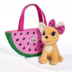 Мягкая игрушка  собачка Фруктовая мода с сумочкой 20 см Chi-Chi Love