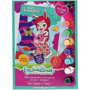 Роспись по номерам MultiArt Enchantimals. Бри Кроля и Твист. Цвет: разноцветный
