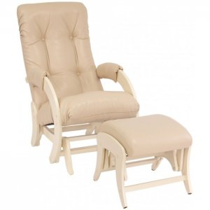 Кресло для мамы  Smile с пуфом Uni Дуб шампань Milli