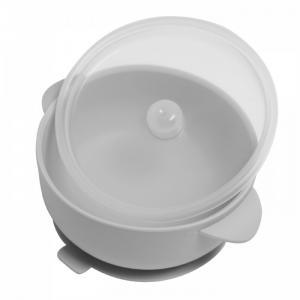 Тарелка детская силиконовая с крышкой на присоске Baby Nice (ОТК)
