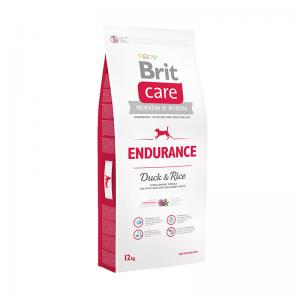 Сухой корм  Care Endurance для взрослых собак при высокой активности, утка/рис, 12кг Brit
