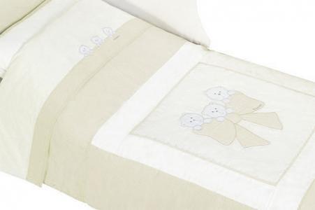 Комплект в кроватку  Бантик короткий борт (6 предметов) Andy & Helen
