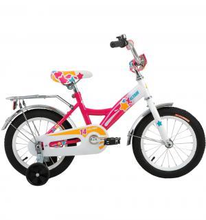 Детский велосипед  City Girl 14, цвет: белый/фуксия Altair