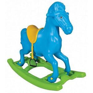 Качалка  Windy Horse Лошадка, со стременами, голубая Pilsan. Цвет: голубой