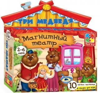 Магнитный театр  Три медведя Vladi Toys
