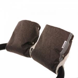 Муфта-варежки на коляску (мех/плащевка) Pituso