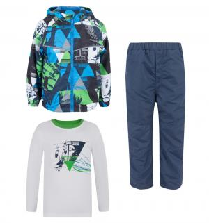 Комплект куртка/брюки/джемпер , цвет: синий Bony Kids