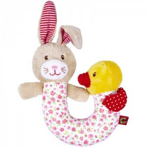 Погремушка  зайчик с уткой Baby Gluck Spiegelburg