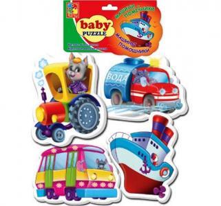 Пазлы мягкие  Транспорт Vladi Toys