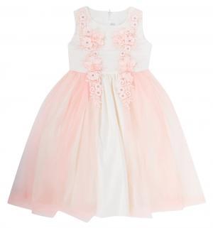 Платье , цвет: молочный/розовый Santa&Barbara