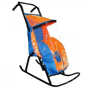 Санки-коляска  Снегурочка 2-Р1 Снежинки R-Toys