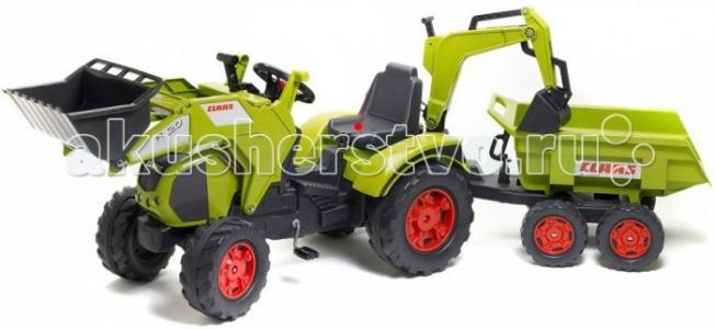 Трактор-экскаватор педальный с прицепом 225 см Falk