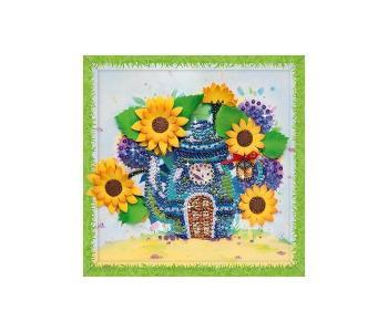 Набор для творчества мозаика из пайеток Чаепитие в подсолнухах Волшебная мастерская