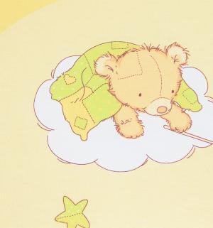 Комплект постельного белья  Мишкин сон, цвет: желтый Сонный гномик