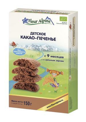 Печенье  Органик какао, 150 г, 1 шт Fleur Alpine