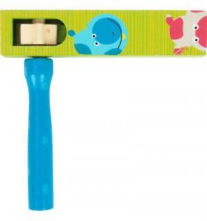 Музыкальная игрушка  Трещетка цвет зеленый/синий Mapacha