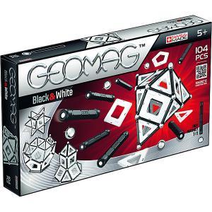 Магнитный конструктор  Black & White, 104 детали Geomag. Цвет: красный/серебряный