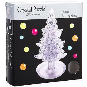 3D головоломка Елочка Белая Crystal Puzzle