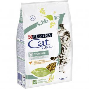 Корм сухой  Special Care Naturium для взрослых кошек после кастрации/стерилизации, птица, 1.5кг Cat Chow