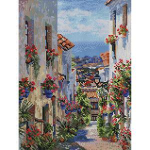 Алмазная мозаика на подрамнике  Испания. Михас 30х40 см Белоснежка