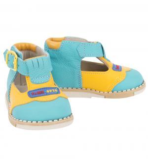 Туфли , цвет: голубой/желтый Таши Орто