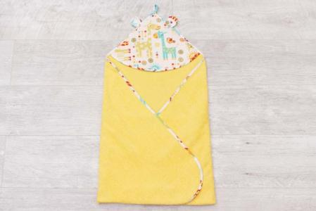 Полотенце с уголком Cute Love Жирафики AmaroBaby