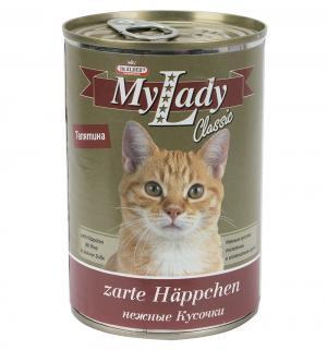 Влажный корм Dr.Alders My Lady для взрослых кошек Classic, нежные кусочки в соусе телятина, 415г Dr.Alder's