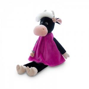 Мягкая игрушка  Коровка Даша в бархатном платье 28 см Maxitoys