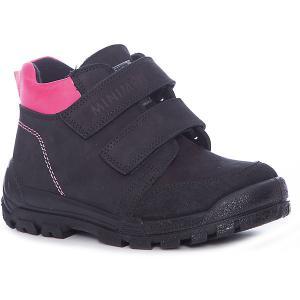 Ботинки для девочки Minimen. Цвет: черный