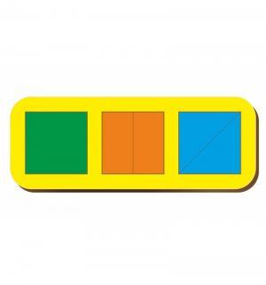 Рамка-вкладыш  Сложи квадрат 3 квадрата уровень 1 Woodland