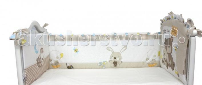 Бортик в кроватку  Мишка с зайкой Bombus
