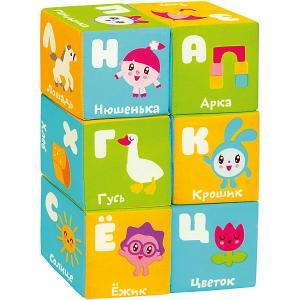 Мягкие кубики  Малышарики Азбука Мякиши. Цвет: разноцветный