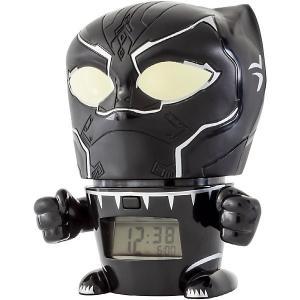 Будильник Kids Time BulbBotz Marvel «Черная пантера» минифигура Детское время. Цвет: черный