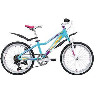 Велосипед  Edelweiss 20, голубой Welt. Цвет: голубой