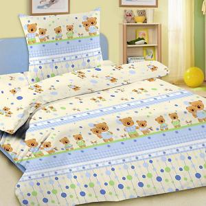 Детское постельное белье 3 предмета , BG-15 Letto. Цвет: голубой