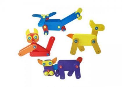 Конструктор  Большой конструкторский набор QiQu Wooden Toy Factory