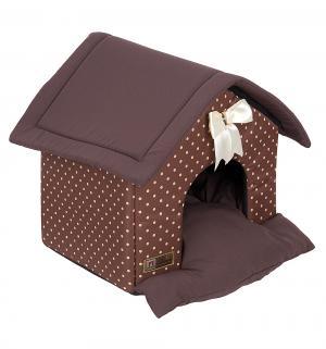 Лежанка для кошек  Ампир, цвет: шоколадный, 45*40*45см Зоогурман